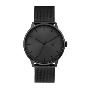 CHPO WATCH OROLOGIO QUADRANTE NERO ANTRACITE IN ACCIAIO CINTURINO IN RETE METALLICA NERO ANTRACITE BLACK UNISEX MOVIMENTO QUARZO MODELLO NANDO METAL TAGLIA UNICA ONE SIZE