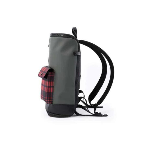 FREQUENT FLYER CAPTAIN ZIP AROUND BACKPACK ZAINO UNISEX SIZE S SIZE M GREEN CHECK RED VERDE ROSSO GIAPPONESE