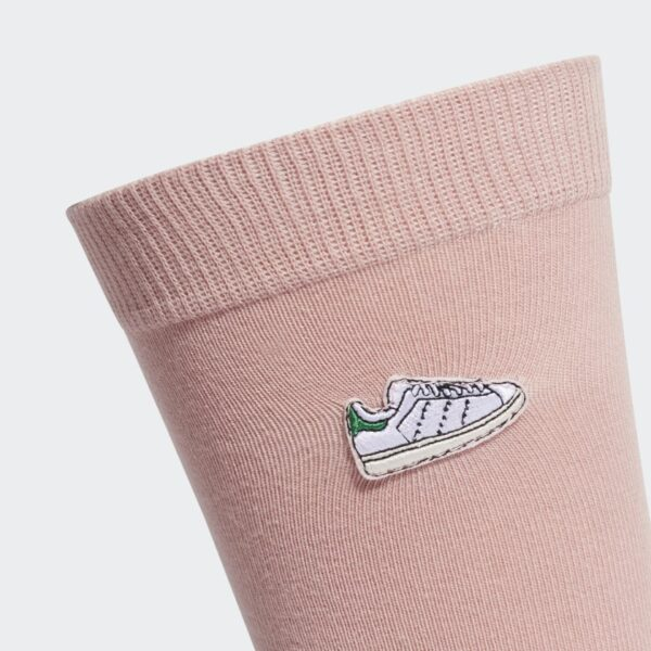 ADIDAS ORIGINALS UNISEX CALZE SOCKS CALZE STAN SMITH PINK ROSA RICAMATE LOGO STAN SMITH TAGLIA M L ED8026