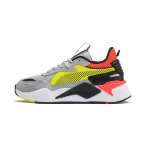 PUMA SNEAKERS RS-X HARD DRIVE SCARPA UOMO DONNA MULTICOLOR ORANGE YELLOW GREY WHITE BLACK BIANCO NERO ARANCIONE GIALLO 369818 01 TAGLIA SIZE 40 41 42 43 44 45