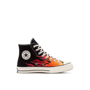 ALL STAR CONVERSE CHUCK 70 ARCHIVE PRINT HIGH TOP SNEAKERS SCARPA UOMO DONNA MULTICOLOR ORANGE YELLOW FIRE FUOCO FIAMME BLACK BIANCO NERO ARANCIONE GIALLO 165024C TAGLIA SIZE 40 41 42 42,5 43 44 45