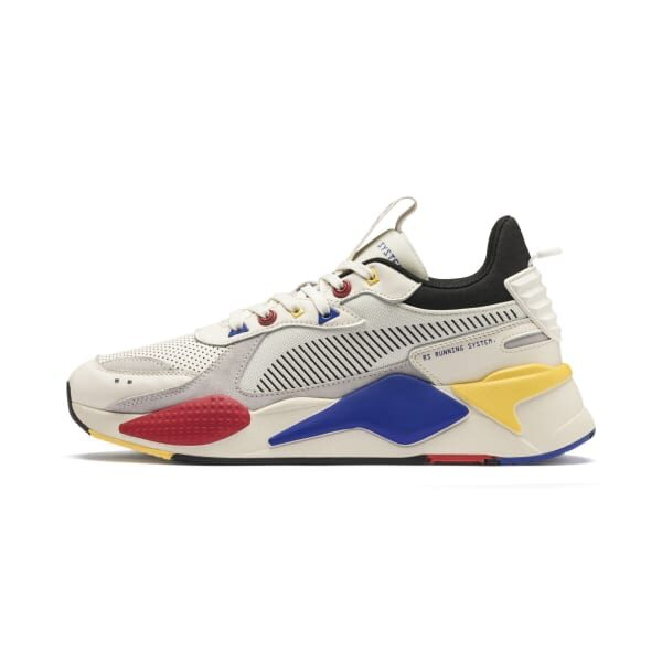 PUMA SNEAKERS RS-X COLOUR THEORY SCARPA UOMO DONNA MULTICOLOR OFF WHITE PANNA ROSSA GIALLA BLU ELETTRICO BEIGE YELLOW RED BLU ELECTRIC 370920 01 TAGLIA SIZE 40 41 42 43 44 45