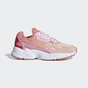 ADIDAS ORIGINALS SCARPE SNEAKERS FALCON DONNA PINK RED WHITE ROSA ROSSO BIANCO STREET EF1964 SIZE 36 37 38 39 40