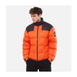 THE NORTH FACE GIACCA IN PIUMINO UOMO LHOTSE PIUMINO PIUMA D'OCA UNISEX MAN WOMAN UOMO DONNA JACKET ORANGE BLACK ARANCIONE NERO TAGLIA XS S M L XL