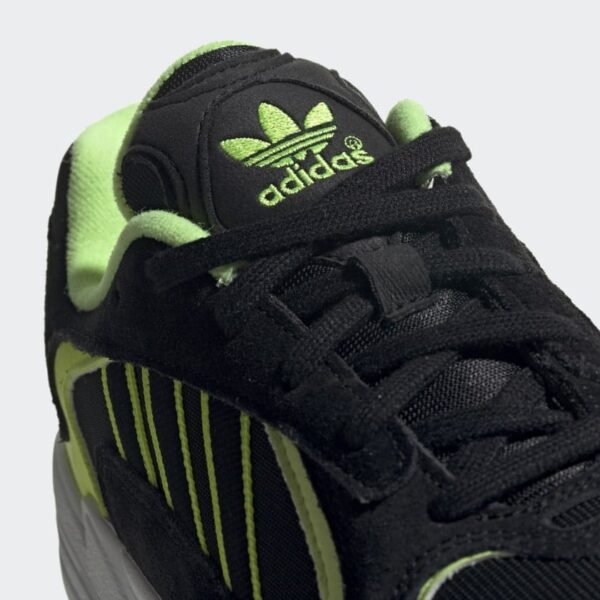 ADIDAS ORIGINALS SCARPE SNEAKERS YUNG 1 UNISEX UOMO DONNA BLACK YELLOW FLUO NERE GIALLO FLUO STREET EE5317 SIZE 39 40 41 42 43 44 45