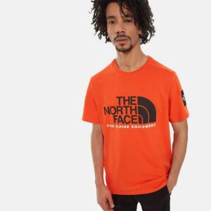 THE NORTH FACE T-SHIRT UOMO FINE 2 TEE UOMO UNISEX UOMO DONNA ORANGE ARANCIONE TAGLIA S M L XL CODICE T-SHIRT TEE FINE 2