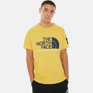 THE NORTH FACE T-SHIRT UOMO FINE 2 TEE UOMO UNISEX UOMO DONNA YELLOW BLACK GIALLO NERO TAGLIA S M L XL CODICE T-SHIRT TEE FINE 2