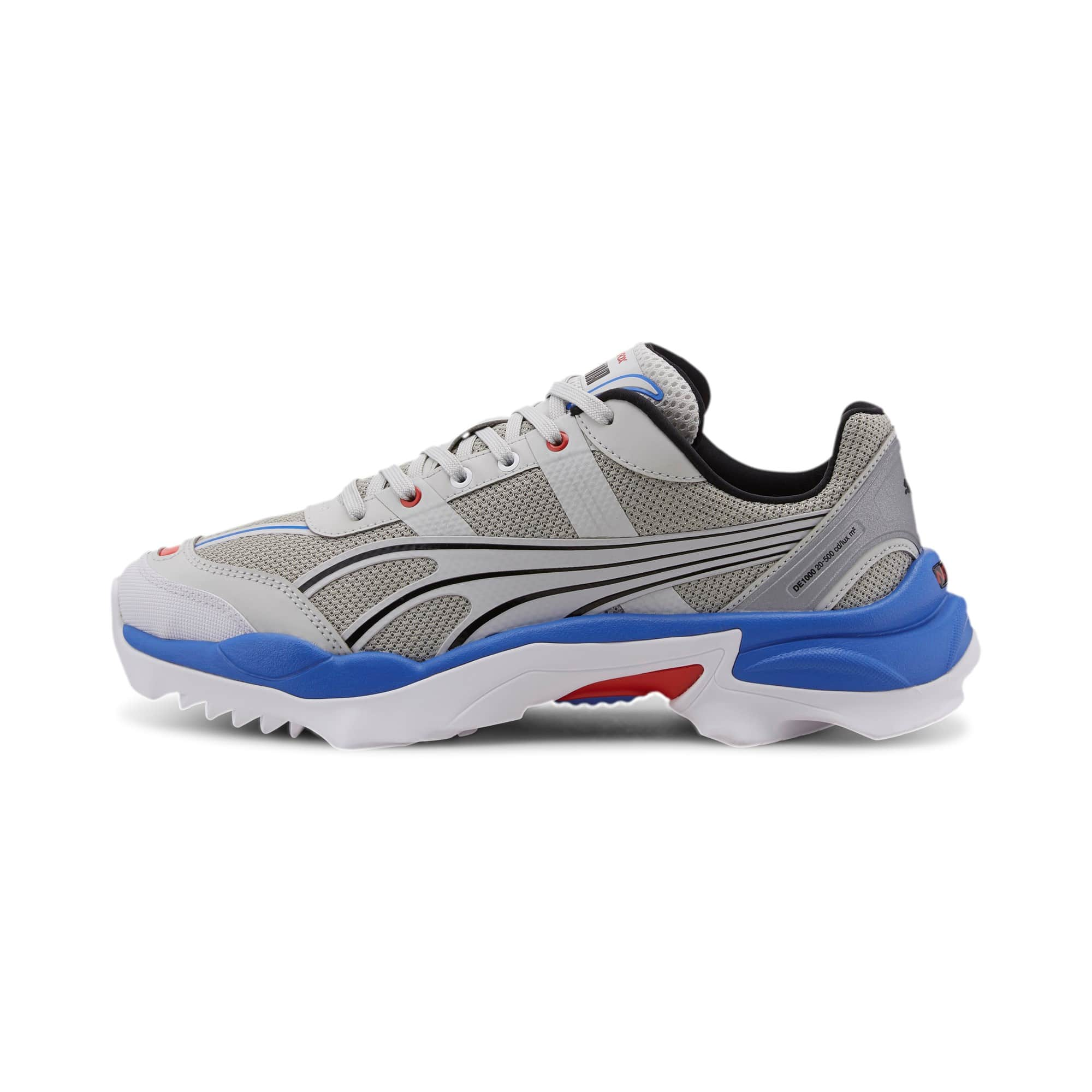PUMA SNEAKERS NITEFOX HIGHWAY RUNNING TRAINERS SCARPA UOMO DONNA MULTICOLOR GRIGIO BLU ROSSA GREY RED BLU ELECTRIC 371480 01 TAGLIA SIZE 40 41 42 43 44 45