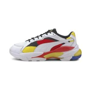 PUMA SNEAKERS EPSILON LQDCELL TRAINERS SCARPA UOMO DONNA MULTICOLOR BIANCO NERA ROSSA GIALLO WHITE BLACK RED 371909 01 TAGLIA SIZE 40 41 42 43 44 45