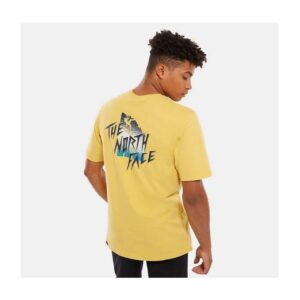 THE NORTH FACE T-SHIRT UOMO MASTERS OF STONE TEE UOMO UNISEX UOMO DONNA YELLOW GIALLO TAGLIA S M L XL CODICE MOS TEE BAMBOO YELLOW
