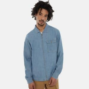 THE NORTH FACE CAMICIA UOMO BERKLEY IN CHAMBRAY A MANICHE LUNGHE UOMO IN COTONE BIOLOGICO CHAMBRAY UOMO TAGLIA S M L XL SIMILJEANS