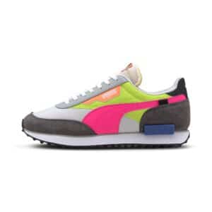 PUMA SNEAKERS FUTURE RIDER PLAY ON DONNA MULTICOLOR FLUO YELLOW FUCKSIA WHITE BLACK GREY GIALLO FLUO FUCSIA BIANCO NERO GRGIO 371149 02 01 TAGLIA SIZE 36 37 38 39 40 41
