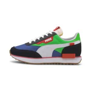 PUMA SNEAKERS FUTURE RIDER PLAY ON TRAINERS SCARPA UOMO DONNA MULTICOLOR NERO BLU VERDE BIANCO BLACK WHITE GREEN BLUE 371149 01 TAGLIA SIZE 40 41 42 43 44 45