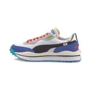 PUMA SNEAKERS RIDER 020 RIDE ON TRAINERS SCARPA UOMO DONNA MULTICOLOR NERO BLU ROSSA BLACK RED BLU ELECTRIC 372839 01 TAGLIA SIZE 40 41 42 43 44 45