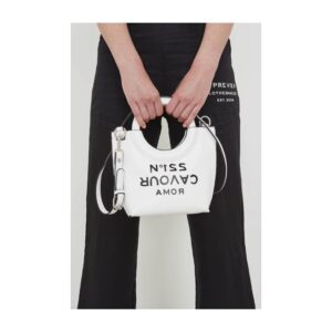 bag daria 5preview in ecopelle bag a mano con tracolla woman donna accessorio miniborsa mini bag bianca white