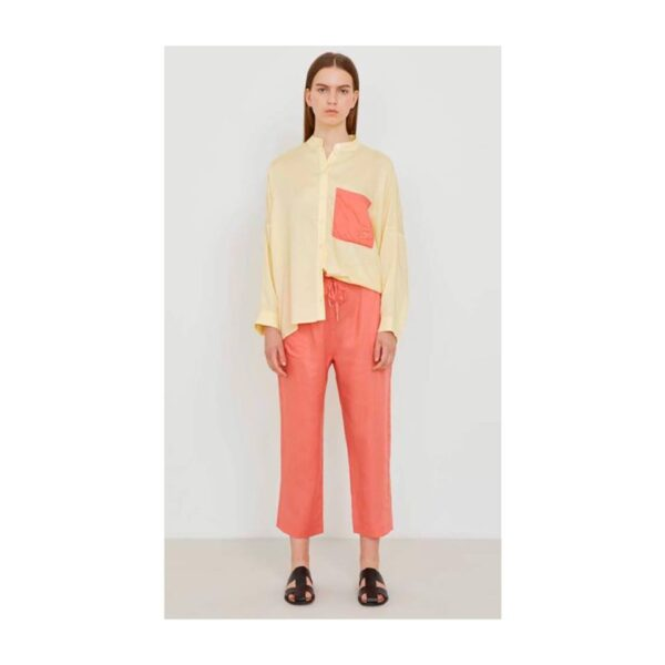 5PREVIEW CAMICIA SHIRT PHOENIX OVERSIZE WOMAN DONNA OVER FIT YELLOW PASTEL GIALLO PAPAYA TAGLIA XS S M L W092 SHIRT OVER FIT OVER