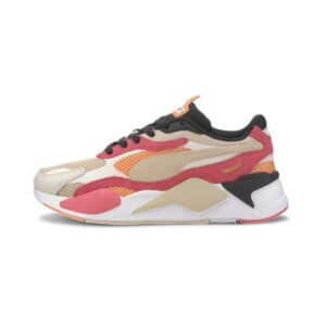 SNEAKERS SCARPA GINNICA RS-X3 MESH POP WOMAN DONNA PINK ORANGE BEIGE BLACK ROSA ARANCIONE BEIGE NERO 372117-01 SIZE TAGLIA 36 37 38 39 40