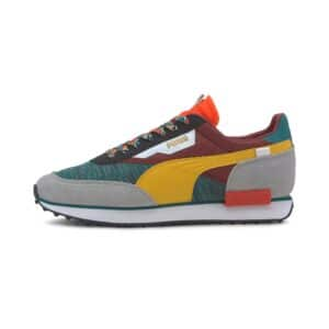 PUMA SNEAKERS SCARPA GINNICA UNISEX UOMO DONNA WOMAN MAN FUTURE RIDER AFROBEAT MIX 373184-02 GREEN WHITE BLACK RED ROSSO NERO VERDE BIANCO
