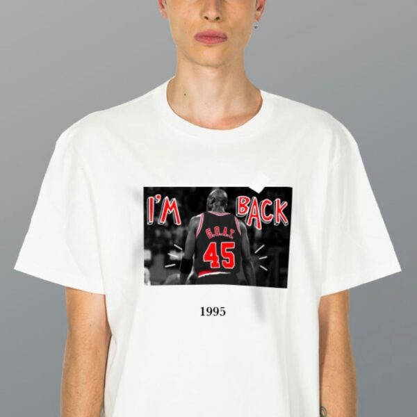 tshirt throwback unisex man woman uomo donna i'm back michael jordan g.o.a.t. black red white nera bianco rossa size xs s m l xl xxl
