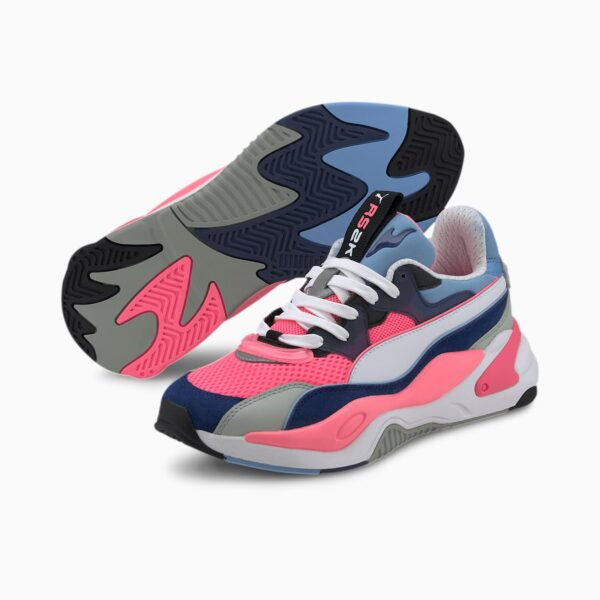 PUMA SNEAKERS SCARPA GINNICA DONNA WOMAN RS-K2 INTERNET EXPLORER 373309-06 FLUO PINK WHITE BLACK FUXIA BIANCO NERO
