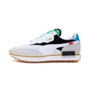PUMA SNEAKERS FUTURE RIDER THE UNITY COLLECTION SCARPA UOMO DONNA MULTICOLOR OFF BIANCO NERA ROSSA GIALLA WHITE BLACK YELLOW RED ARTICOLO 373308 01 TAGLIA SIZE 40 41 42 43 44 45