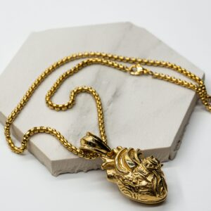 DOUBLEUFRENK-DOUBLE-U-FRENK-ACCESSORIES-ACCESSORI-COLLANE-NECKLACE-GOLD-AVERE-FEDE-HAVE-A-FAITH-REAL-HEART-GOLD